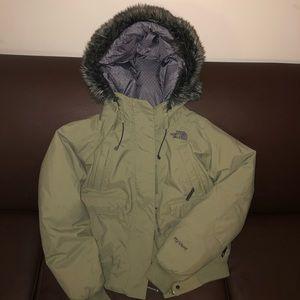 Olive Green NorthFace HyVent Coat